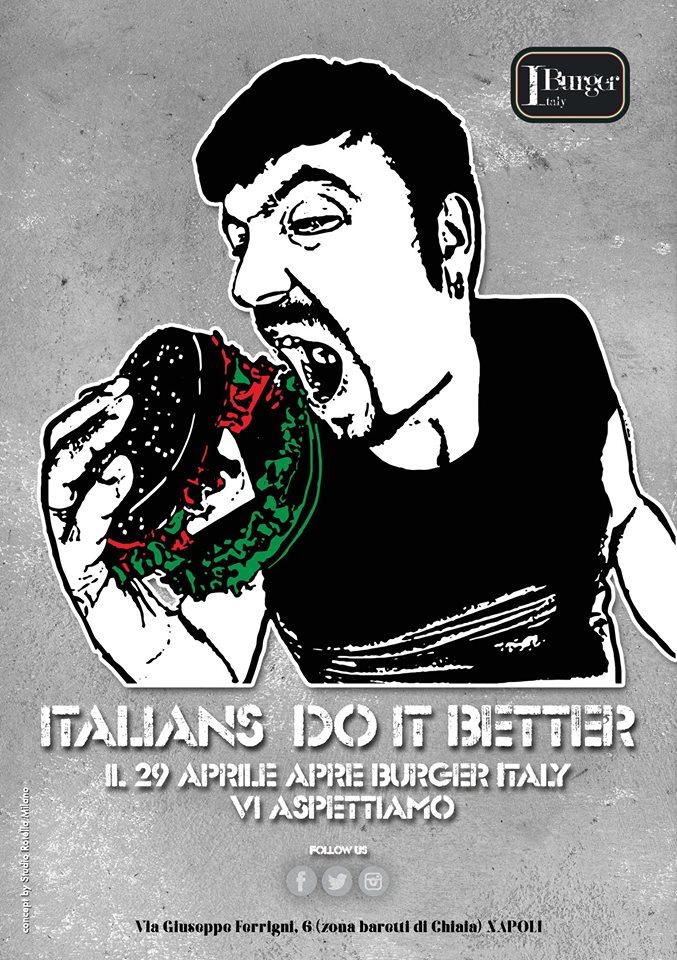 locandina inaugurazione Burger Italy