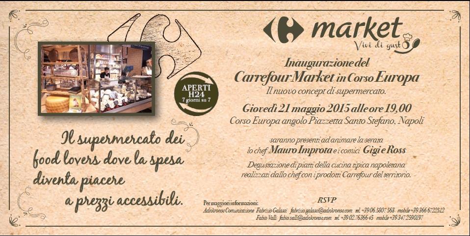 Invito apertura Carrefour market gourmet Napoli H24