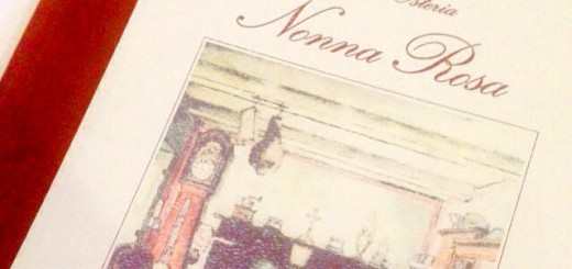 Menu Antica Osteria Nonna Rosa