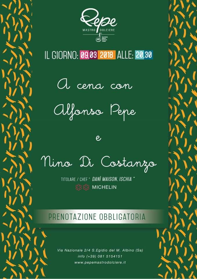 A cena con Alfonso Pepe e Nino Di Costanzo