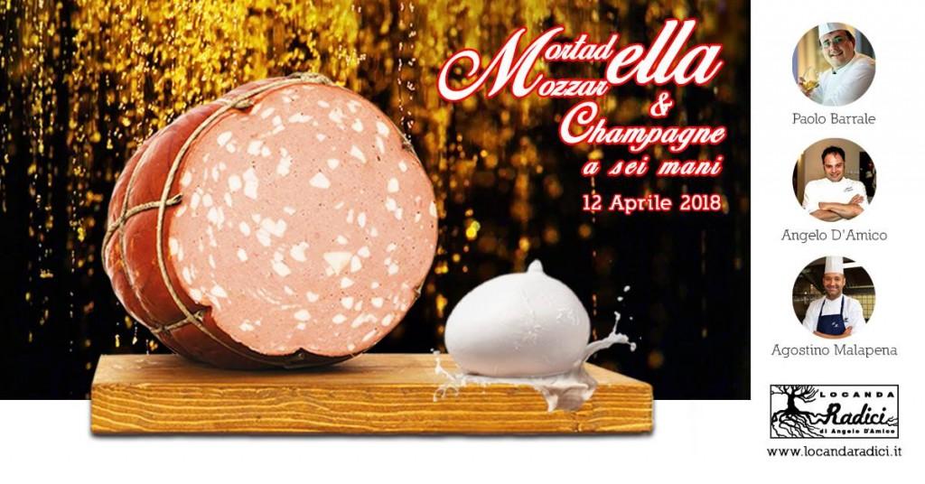 Mortadella, Mozzarella e Champagne a sei mani