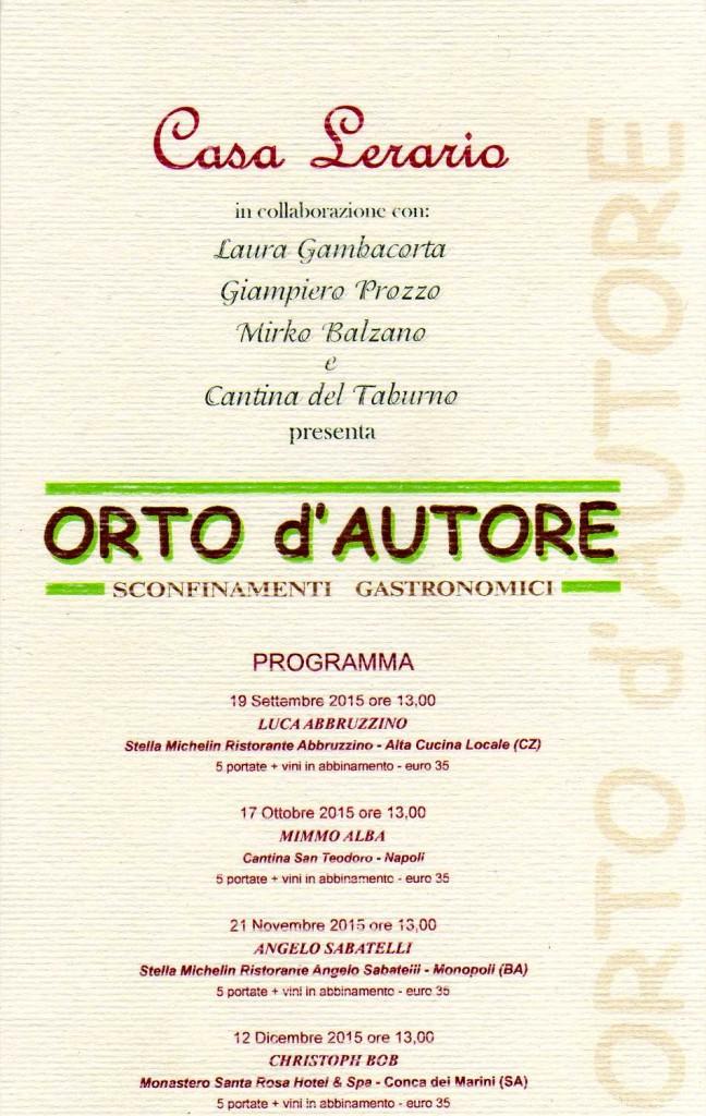 locandina Orto d'Autore